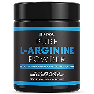 Havasu Nutrition L-Arginine Capsules for Protein Building & Nitric Oxide Boosts | Beet Root Powder for Vascularity & Growth