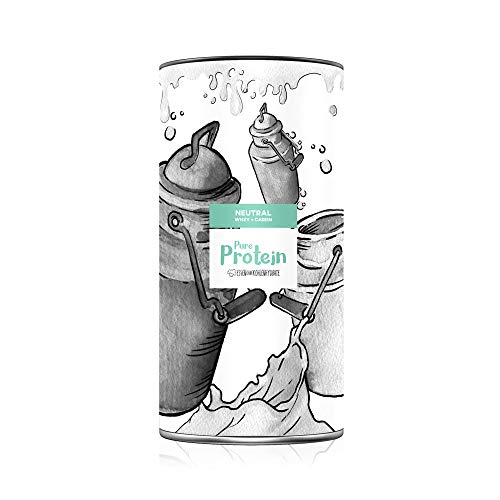Pure Protein 800g (neutral) – Eiweiß aus WHEY & CASEIN für noch mehr Sättigung & Cremigkeit – Perfekt zum BACKEN und OHNE Plastiklöffel von Essen ohne Kohlenhydrate