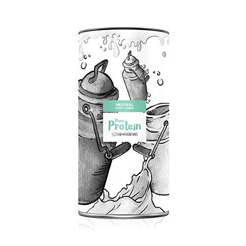Proteína pura de 800 g (neutral) – Proteína de WHEY & CASEIN para aún más saturación y cremosidad – Perfecto para hornear y sin cucharas de plástico de alimentos sin hidratos de carbono