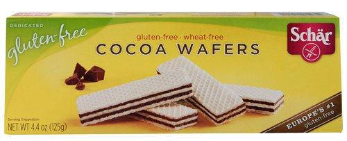 Schar Cocoa Wafer Gluten Free -- 4.4 oz - 2 pc