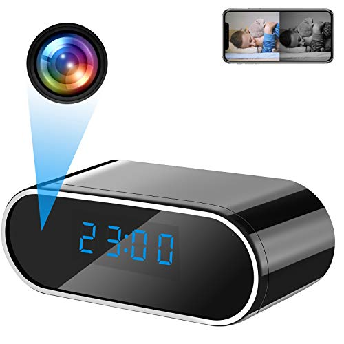 LXMIMI Telecamera Nascosta, 1080P HD WiFi Telecamera Spia , Visione Notturna & Rilevamento del Movimento Telecamera Spia Orologio