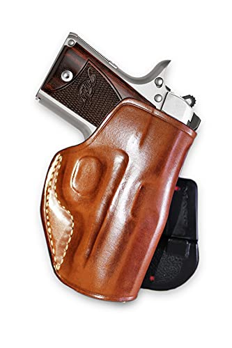 Premium Leather Paddle Holster Open Top Fits, Kimber Micro...
