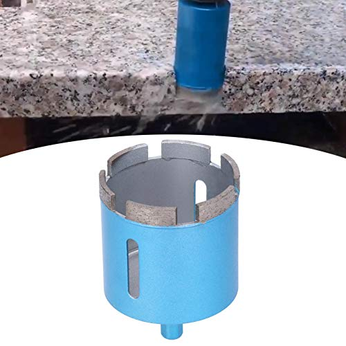 Broca de diamante azul, herramientas para aberturas de agujeros de hormigón, herramienta de corte de mármol, cortador de taladro eléctrico manual para mármol, hormigón, cerámica, 3 tamaños(60mm)