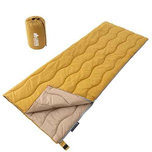 イエローカラーの寝袋