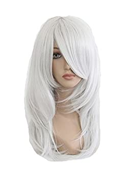 COSPLAZA Cosplay Wigs Anime Show Party Hair Silver White Synthetic Wig