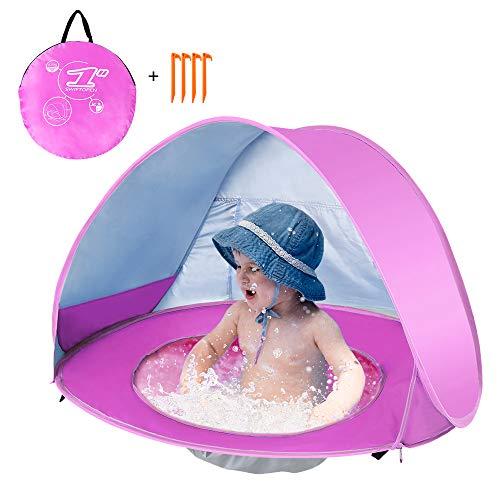 Lixada Pop Up Tienda Playa Bebé, Impermeable y Anti-UV, Tienda Infantil Plegable...