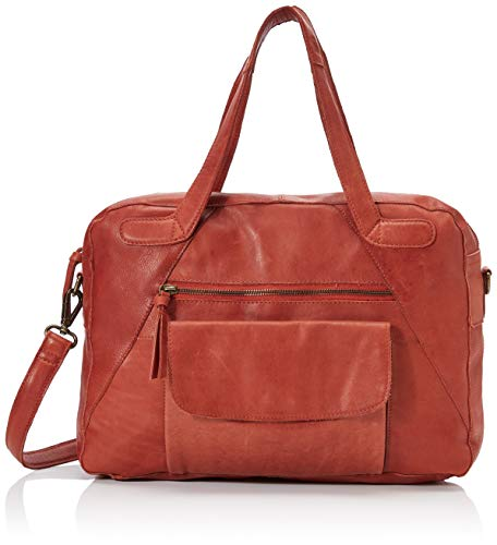 PIECES Damen Pccollina Leather Bag Schultertasche, Braun (Picante), 11,5x37x25 cm