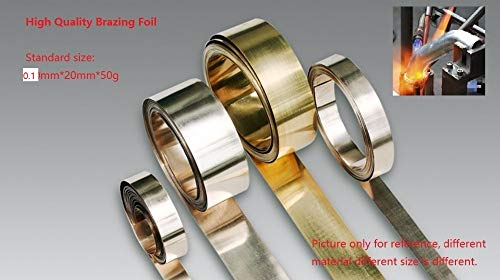 Jammas Brazing Foil Soldering Sheet Silver Based Braze Welding Plate A5.8 BAg-7 0.1mmx20mm 50g/Pk