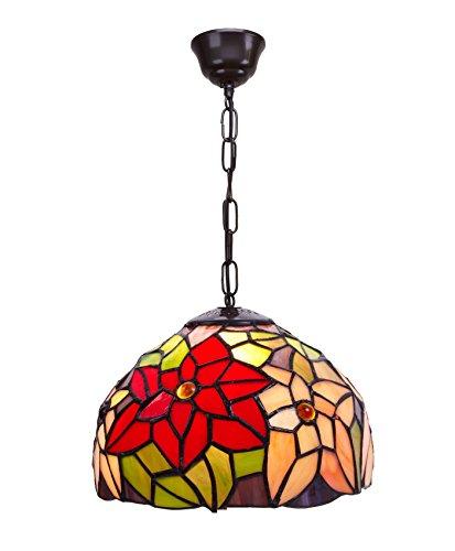 IVintage 222899 hanger met ketting Tiffany glas opaal vertind, meerkleurig