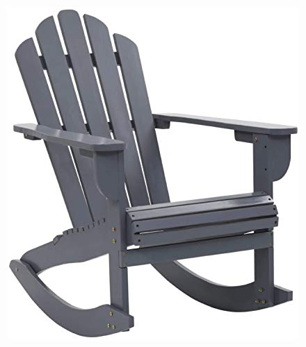 K&A Company Outdoor Chair, Garden Rocking Chair Wood Gray