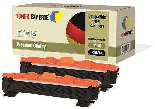 2-er Pack TONER EXPERTE® Premium Toner kompatibel zu TN1050 für Brother DCP-1510 DCP-1512 DCP-1610W DCP-1612W HL-1110 HL-1112 HL-1210W HL-1212W MFC-1810 MFC-1910W