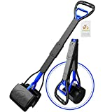 TIMINGILA 33' Long Handle Portable Pet Pooper Scooper for Large and Small Dogs,High Strength Material and Durable Spring,Great for Lawns, Grass, Dirt, Gravel
