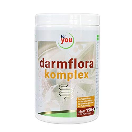 for you darmflora komplex hochdosiert I Effektives Synbiotikum - probiotisches Pulver mit präbiotischen Ballaststoffen I Darmgesundheit Nahrungsergänzung I Pulver 150 g (30 Portionen)