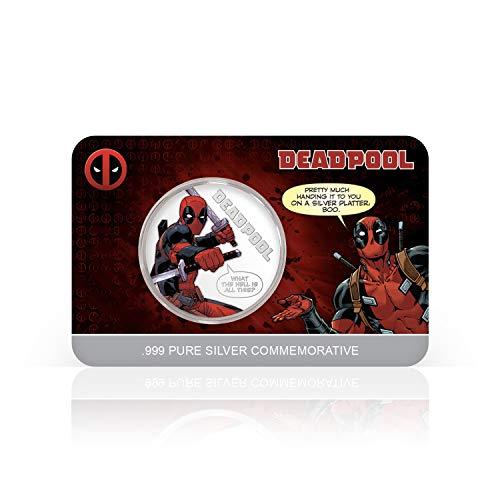 IMPACTO COLECCIONABLES Deadpool Marvel Offizielle Gedenkmünze - Reines Silber 32mm