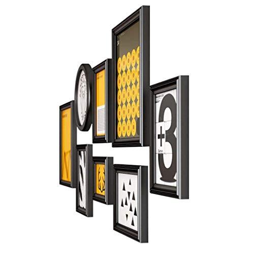 ZPQJH 8 Stukken van massief hout fotolijst Muurgalerij Kit Huis Woonkamer Frame Photo Muurachtergrond Art Deco Combinatie fotolijst Twee Kleuren Optioneel