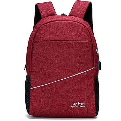 Paquete de Bolsas de Escuela para niños Senderismo Mochila Bolsa de Viaje para niños para niños Simple Middle Mochila Niño niña Adolescente Bolsa de la Escuela Regalo (Color : Red, Size : One Size)