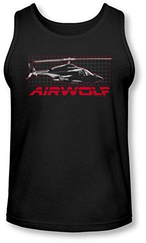 Airwolf - - Grille Tank-Top pour hommes, Large, Black