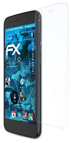 atFolix Schutzfolie kompatibel mit ZTE Blade V8 Lite Folie, ultraklare FX Bildschirmschutzfolie (3X)