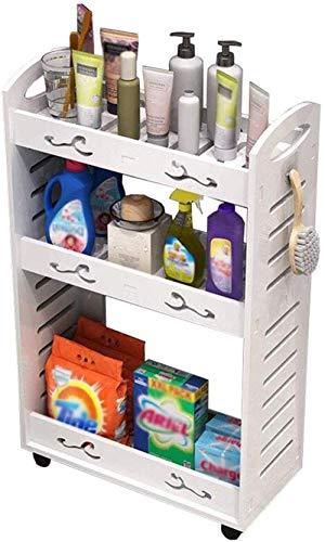 Estante de baño Impermeable baño Deslizante gabinete Estrecho gabinete gabinete con Ranura para Inodoro (tamaño: 40 * 16 * 69 cm)