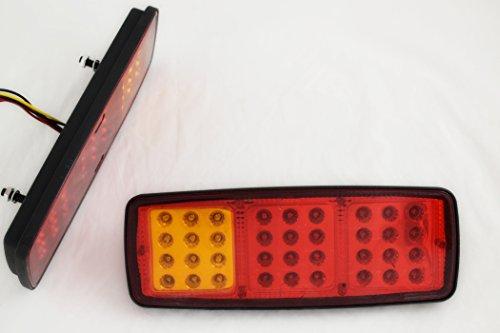 PAIRE FEUX ARRIERE 12V 36 SMD LED LAMPES DE FONCTION MINI REMORQUE CAMION