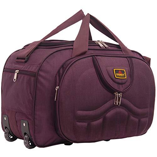 Everest Bag (expandible) 50 l de poliéster impermeable ligero equipaje viaje bolsa de viaje con 2 ruedas (púrpura) _EVR57_50