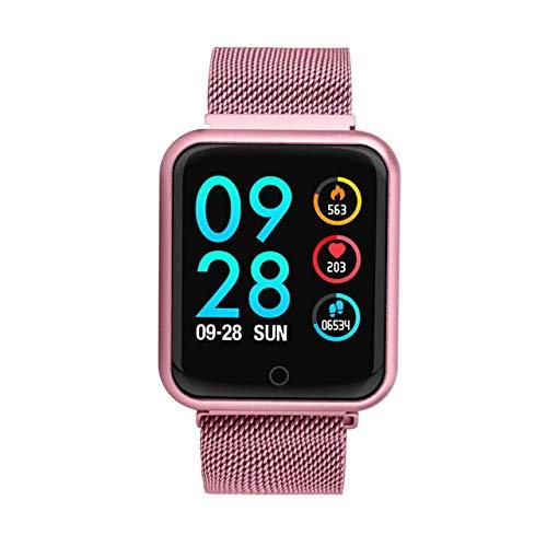 Relógio Smartwatch P68 Inteligente Ip68 Monitor De Pressão Arterial Frequência Cardíaca Impermeável Iphone Android Saúde (ROSE)
