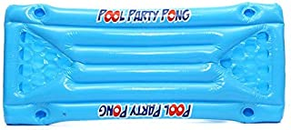 Inflatable Beer Pool Pong Float Table Raft Lounge Party Game 24 Cup Holder(blue)
