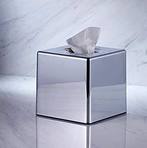 Xmwm Caja pañuelos-Soporte pañuelos Espejo Cromado