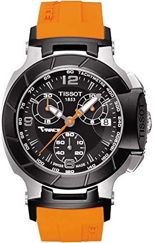 Tissot T-Race on Orange Rubber Strap 36mm Reloj de mujer T048.217.27.057.00