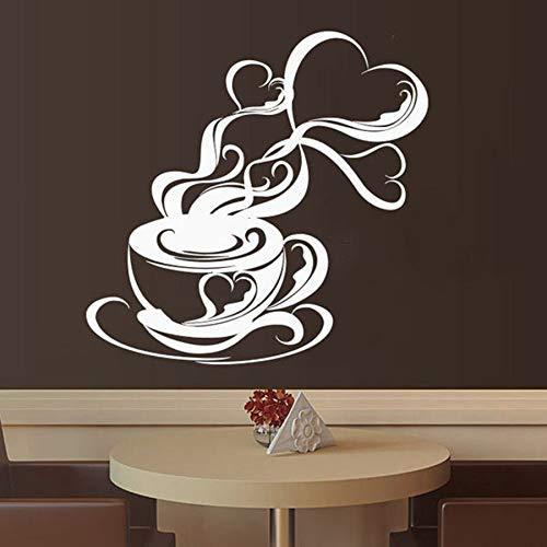 Calcomanías de pared para cafeterías capuchino bebidas calientes decoración de paredes para cafeterías puertas y ventanas pegatinas de vinilo taza de aromaterapia para café arte mural