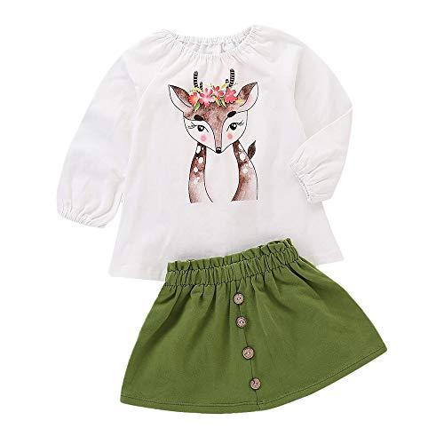 K-youth Vestidos Bebe Niña, Vestido de Princesa Bebé Recién Nacido Tutú Princesa Vestido Niña Bautizo Bebé Niñas Camiseta de Manga Larga y Falda Otoño Invierno Ropa para 0-4 Años