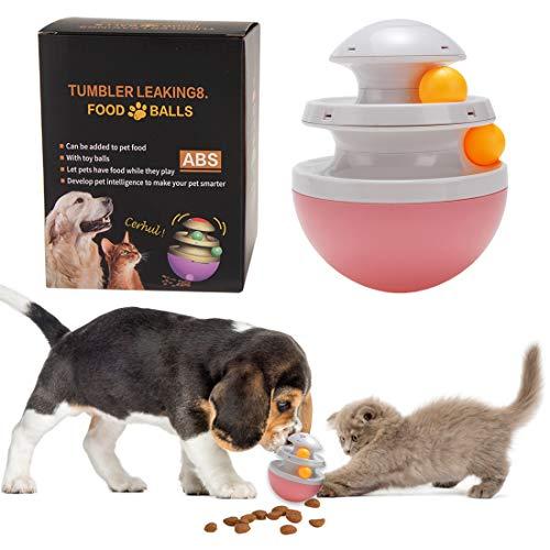 TVMALL Trackball Juguete para Perros Alimentador de Dispensador de Alimentos Interactivo Gato Pequeño de Gran Tamaño Juguete para Perros Bola de órbita Bola de Juguete Interactivo Alimentador de Juego