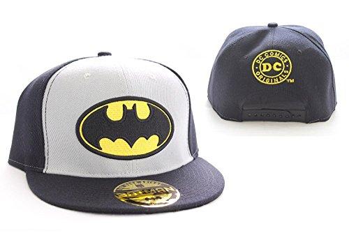Superhelden Baseball Mütze (Baseball Cap): Batman Logo College Cap (schwarz/grau)