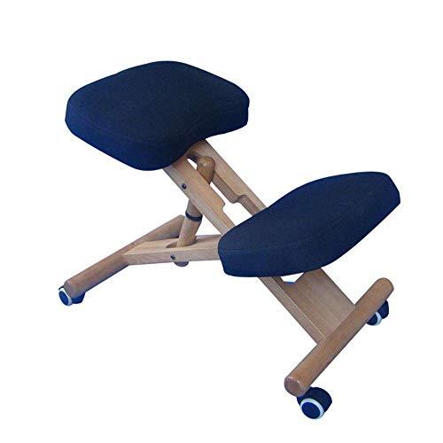 YINGGEXU Silla de comedor Ergonómica silla de rodillas, rodillas silla ortopédica Con Asiento de atrás ayuda a prevenir coxis rodillas silla for una mejor postura (color: azul, tamaño: 74 * 29 * 48 cm