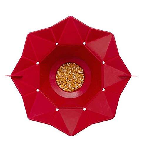Best Deals! Hankyky Popcorn Popper Magic Microwave Silicone Popper Bowl Foldable Popper Cornet Popco...