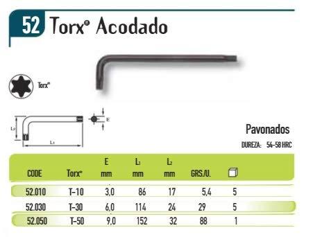 ECOSPAIN Llave Torx. Modelo Palmera (52.050 T-50)