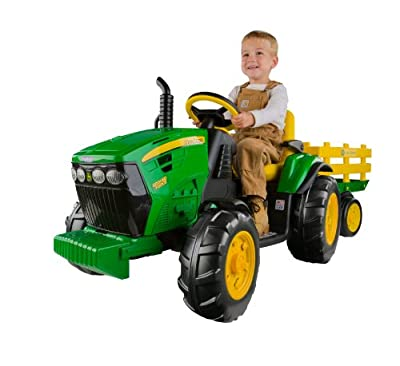 Peg Perego John Deere Ground Force Tractor with Trailer from Peg Perego