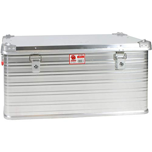 JUMBO Alluminium Transport-Box Alu 91 Liter ALU91 L 782 x B 350 x H 379 mm Kiste Truhe Lager-Box Alubox