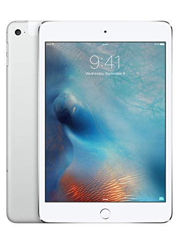 Apple iPad Mini 4 128GB 4G - Argento - Sbloccato (Ricondizionato)