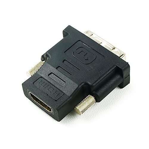 BeMatik - Adaptador HDMI de Tipo HDMI-A Hembra a DVI-D Macho