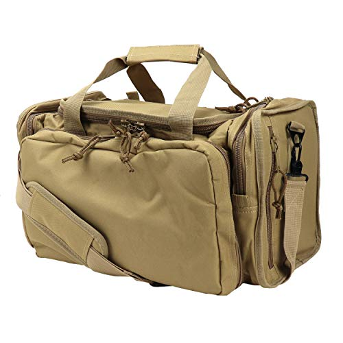 OSAGE RIVER Tactical Range Bag for Handguns and Hunting, Travel Duffel, Light Duty, Coyote Tan