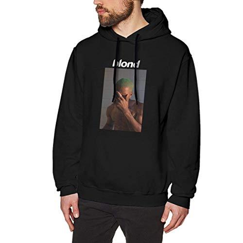 AKKUI Hooded Sweat Herren Kapuzenpullover Evmjser Blond Frank Ocean Men's Casual Long Sleeve Hooded Sweatshirt Tops Black