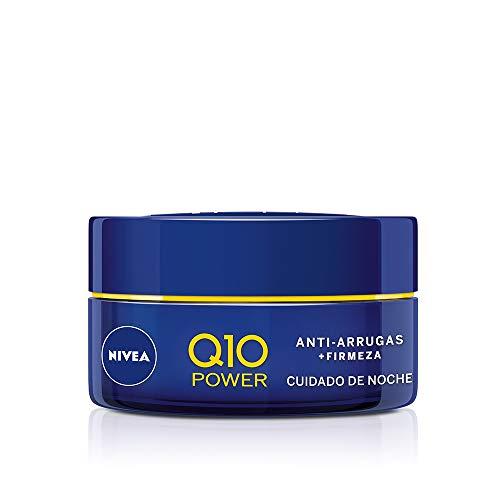 NIVEA Q10 Power Antiarrugas Cuidado de Noche (1 x 50 ml), crema antiarrugas hidratante, crema de noche para reducir las arrugas, crema reafirmante facial