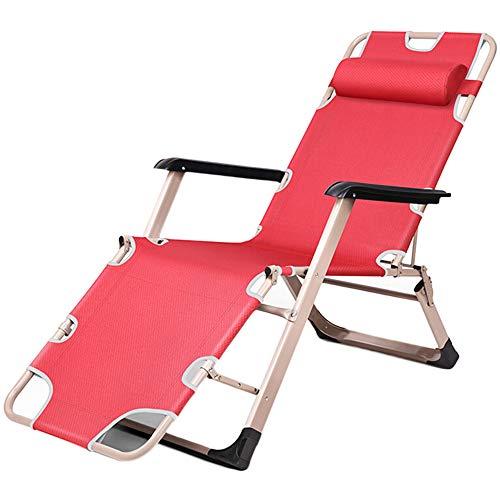 HXBH Silla de Camping Plegable Silla de salón portátil para Exteriores Cómoda Silla reclinable con reposabrazos y Respaldo Silla de Playa Grande y Ajustable