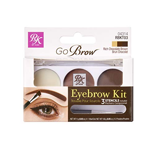 Ruby Kisses Go Brow Eyebrow Kit RBKT03 (Rich Chocolate Brown)