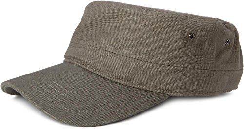 styleBREAKER Cap im Military-Stil aus robustem Baumwollcanvas (Oliv)