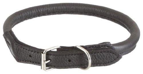 Nobby 78773-05 Hundehalsband Elchleder L: 55 cm, Ø 10 mm, schwarz
