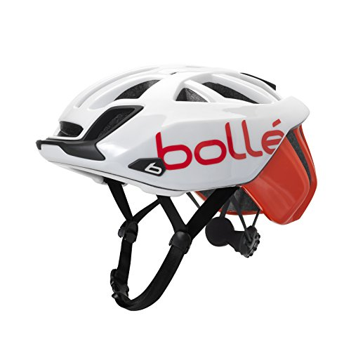 Bollé (CEBF5) 31587 Casco Ciclismo, Unisex Adulto, Blanco/Rojo, 54-58 cm