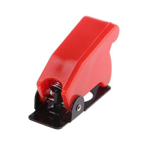 P Prettyia Interruptor de Palanca Barco LED Iluminado Cubierta Roja para LED