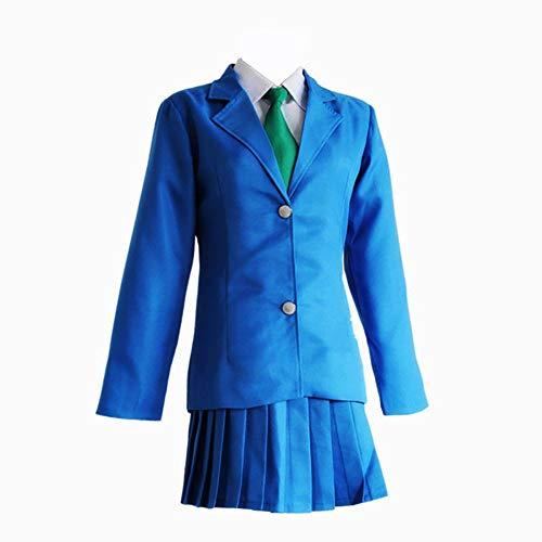 LISI Anime Detective Conan Cosplay Kostuem Damen School Uniform Shirt Jacke Blazer 4 Stück Set Mit Krawatte Karneval Spielzeug,A,M